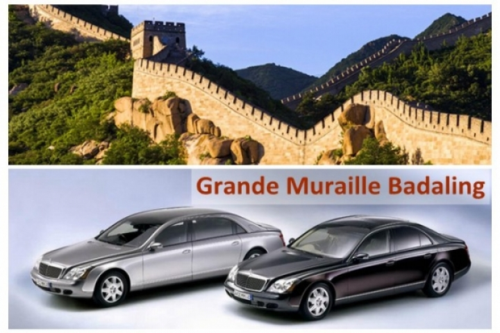 Location voiture: Muraille Badaling (+Tombeaux Ming)