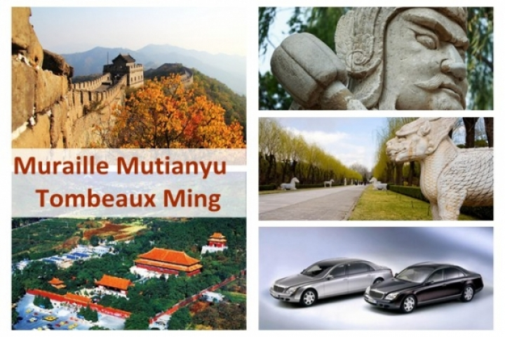 Location voiture 4 sièges: Muraille Mutianyu + Tombeaux Ming